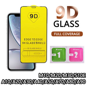 9D cobertura completa de vidro temperado para o iPhone 11 2019 XS MAX XR protetor de tela para Samsung S10E A10 A20 A50 Huawei P30 Lite