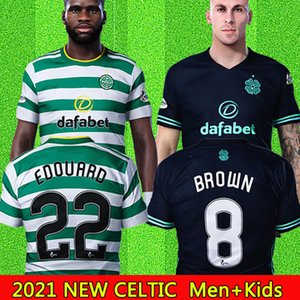 2020 2021 New Celtic Soccer Jerseys MCGREGOR GRIFFITHS BROWN FORREST Football shirts Celtic FC EDOUARD 20 21 Men + Kids Kits jersey