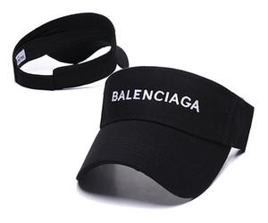 2019 sport team Visiera solida Cappelli bianchi neri Cappellini Cappellini snapback Cappellini regolabili Visiera Accetta l'ordine della miscela