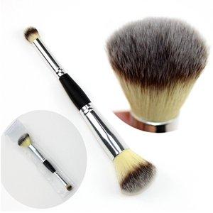 Fard à paupières professionnel visage fard à joues Fondation Pinceaux souple à double tête chimique Têtes fibre outil multifonctions de maquillage