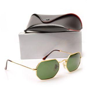 Top Quality Fashion 3556 Sunglasses Glass For Womans Eyewear Brand Designer Mans Sun Glasses Octagonal Sun glasses UV400 Lens With cases Box