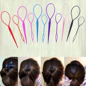 New Hot Sale 2Pcs хвостик Styling чайник Мода волос Twist Braid инструмент макияж Аксессуары Шиворот хвост волосы кос хвостик
