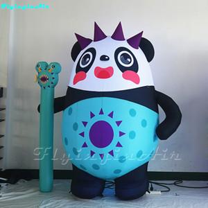 1.8m que anuncia a panda inflável inflada feita sob encomenda do guerreiro da panda Panda inflável