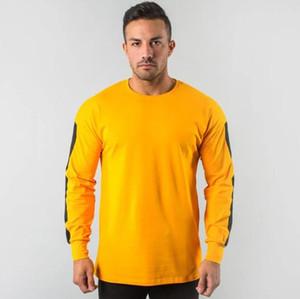 망 디자이너 Tshirts 우연한 느슨한 태양열 집열기 스포츠 긴 소매 망 정상 덧대어깁기 대원 목 스웨터