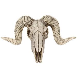 Décoration Crafts Statues Sculptures 3D Creative Horns Ornement résine crâne rétro Tenture Crafts Accueil Décor du cadeau Crâne d'animal