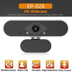 EP-028 1080P FHD كاميرا ويب مدمجة في HD ميكروفون USB سائق سيارة كاميرا ويب مجانية