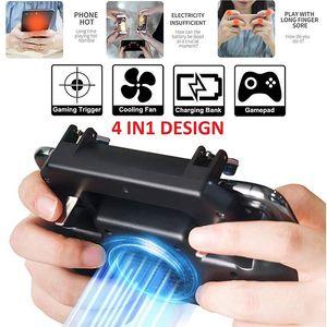 Winex Pubg Gamepad Controller Mobile Trigger L1R1 Shooter Joystick Game Pad Phone Cooler Fan with 2000mAh 4000mAh Power Bank