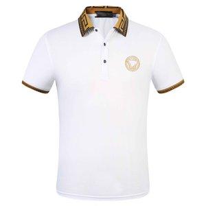 2020 neue Frühling Sommer Herbst Männer lässig Polo-Shirt T-Shirt Männer Polo-T-Shirt Schlangenbiene Stickerei High Street Männer Polo-T-Shi