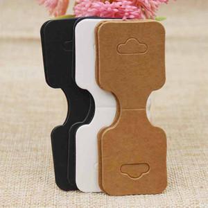 90 * Kraft / bianco / nero gioielli accessori per capelli scheda video tag scheda video pacchetto di 35 millimetri in bianco all'ingrosso per la visualizzazione dei prodotti