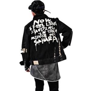 Vêtements Hip Hop rue style Jeans Veste Hommes Vestes et manteaux Veste en denim pour hommes Vêtements Jeans trou Coton Veste S-XL