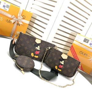 LoVuitto designer Bucket Petit Tote Authentic Monogram tambourine shoulder bag M44823 Size:Big Bag25X13cm Small Big20x11cm Round Big 10cm