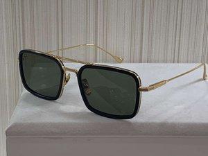 Gafas de sol del marco cuadrado Oro Negro lente verde 134 OCHO hombre Gafas de sol hombre Use gafas de sol UV 400 lentes ojo nuevo con la caja