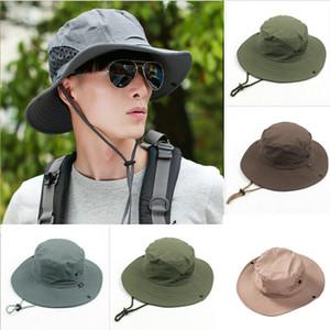 Cappello per il sole della benna di pesca escursionismo Cap uomini di estate Cappello Protezione Tesa larga UV