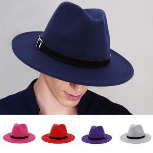 Classic Men & Women Vintage Felt Godfather Fedora Hat - Gangster Mobster Adjustable Jackson Gentleman Hat -many Colors#J7