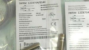 QTY 10 Pro Lot Original Neu In Box Baumer Induktiver Näherungsschalter IWRM12Z8704 / S14C Kostenloser Expressversand