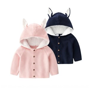 Children's sweater baby rabbit warm Warm coat baby clothing children's knitted coat BS7038