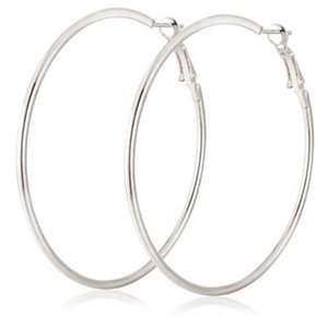 Women Fashion Personality Big Hoop Earrings Jewelry Gift Casual Snap 3cm 4cm 5cm 6cm 7cm 8cm 9cm 10cm Silver Gold