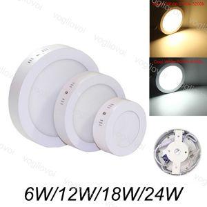 Downlights superficie montada abajo luz 12W 18W 24W SMD2835 Led Círculo de techo lámpara abajo Cocina Baño Iluminación 110V AC 240V DHL