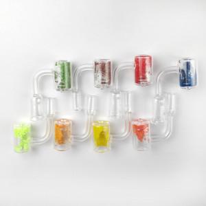 Quartz termocrômico Bucket Banger Quartz termocrômico Banger Nails 10 milímetros 14 milímetros 18 milímetros Masculino Feminino vidro Bongos Dab Rigs
