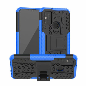 Pour Huawei P intelligent 2020 / Huawei Honor 9A Nova 7 Pro Hard Case souple TPU hybride Armure Protection silicone caoutchouc Support Shell Cover