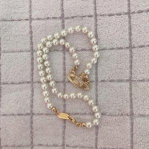 Qualitätrhinestone Satellite Halskette Women Orbit Perlen-Ketten-Halsketten für Geschenk-Partei