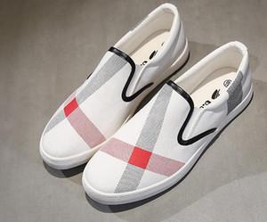 Мужская повседневная обувь лето осень модный бренд дышащая парусиновая обувь ленивый slip-on мужская обувь мужчины плоские эспадрильи