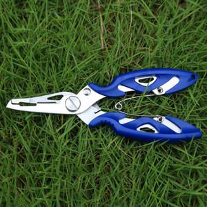 Venta al por mayor 4 Alicates de pesca de acero inoxidable de 4 colores Tijeras Pescadores al aire libre Línea cortadora Eliminar Hook Pesca Herramienta de aparejos Gadget BC BH0658