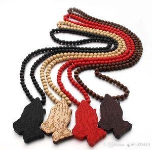 neue Afrika-Karte Anhänger Good Wood Hip-Hop aus Holz NYC Fashion Halskette