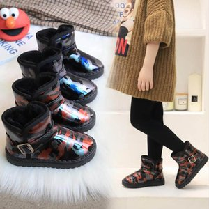 Warm Children Winter Boots For Baby Boys Girls Snow Boots Waterproof Plush Kids Shoes Leather Children Shoes Sneakers