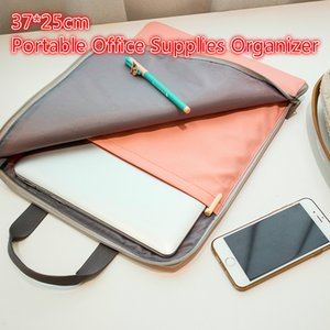 Office Notebook Storage Bag Portable Document Organizer 35 * 27cm Watervance Files Holder for Stationery Pad/Laptop Protecter