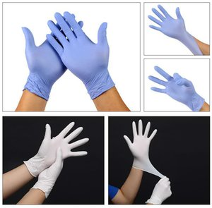 DHL Free! Disposable Protective Nitrile Gloves Universal Household Garden Dish Washing Screen Cleaning Food Grade 100pcs Lot