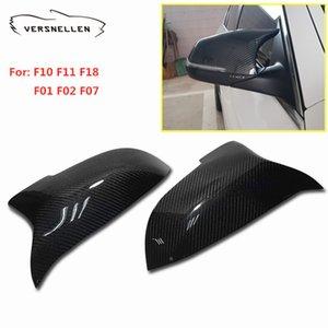 F10 Mirror Cover Carbon Fiber Mirror Caps for BMW F10 2014-2016 F11 F18 F01 F02 F07 5/6/7 Series Side Mirror Cover