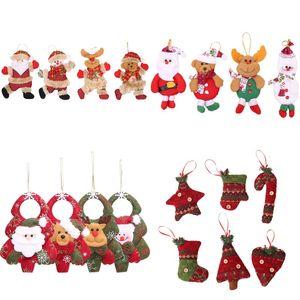 Украшения рождественской елки Подвеска Санта-Клаус снеговика Elk Кукла висячие украшения Xmas Tree Window висячие украшения