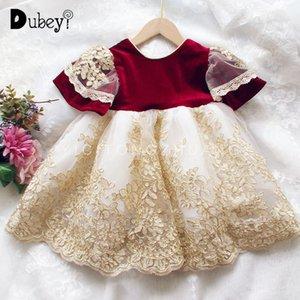 Spain Royal Girl Princess Dress New Bow Party Dress Little Girls Dresses for Birthday Wedding Prom Kids Dresses for Girls