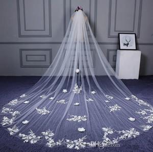 Real Image Bridal Wedding Veils Long Soft Yarn New Head Gauze Wedding Accessories Romantic Bride Hair Veil