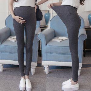 Plus Size Maternidade Leggings calças para Quente Gestantes Preto Outono-Inverno Calças Roupa Gravidez roupa ropa premama