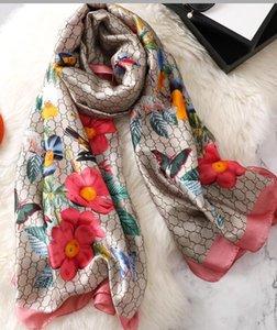 Sciarpe di seta di marca di autunno e di inverno di modo classico senza tempo, sciarpe di seta molli delle donne di modo scialle lungo eccellenti 180 * 90cm