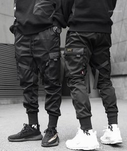 Calça Casual Calças Jogger Mens Primavera-Verão Moda Calças Calças Lápis Mens funcional e tático Tooling