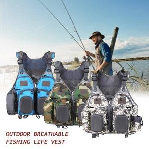 Fishing Life Jacket Multi-Pockets Floatation Vest Adults Buoyancy Waistcoat men swimwear fishing vest