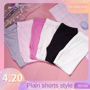 Children's leggings modal peerless tight Shorts and tight pants flat three-point pants girls mid-waist anti-light safety shorts