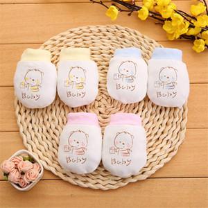 Ayarlanabilir İpli Bebek Eldiven 0-6-12 Ay Moda Bebek Karşıtı Taraklı Eldiven Yenidoğan Koruma Yüz Pamuk Kazı Eldivenler