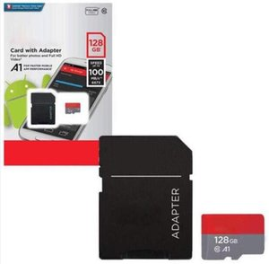 2020 Factory Wholesale 100mpbs Bianco Ultra A1 64GB 128GB 256GB Class10 TF Scheda di memoria flash in confezione al dettaglio blister Fedex express