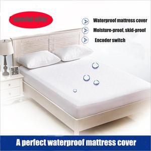 Cotton Terry Matress Abdeckung 100% wasserdicht Matratzenschoner Bed Bug Proof Staubmilbe Matratzenauflage Abdeckung für 180 * 200cm
