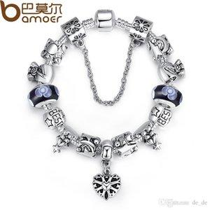 Bamoer Best Wishes pulsera brazaletes para mujer joyería de moda con cuentas y encantos al por mayor PA1827