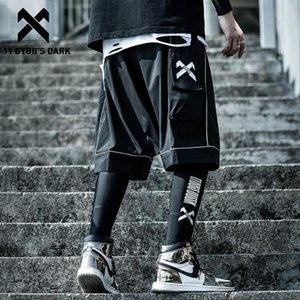 11 BYBB buio riflettente Hip Hop Cargo Shorts Mens 2020 Estate tattico lunghezza ginocchio Maschio Pantaloni corti Pantaloni Streetwear Pantaloncini