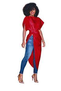 Kadın Asimetrik Boatneck Kısa Kollu Elbise Dantelli Katı Düzensiz Gömlek Tops