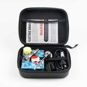 Hot vente enail Portable électrique Dab Nail Pen Rig Wax PID TC boîte avec Ti Titanium Domeless Heater Coil E quartz kit ongles pad de silicone