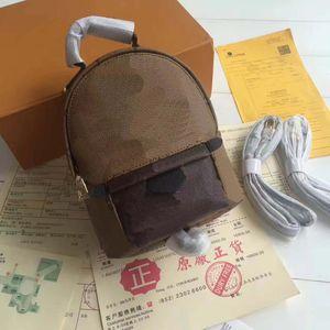 Hot nouveau Palm Springs Sac à dos Mini enfants cuir moyen sacs à dos femmes cuir impression bookbag nouveau sac à dos