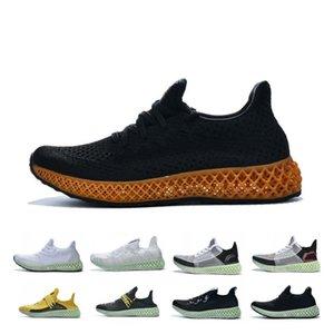 Yeni Stil Futurecraft 4d Rahat Ayakkabılar Siyah Beyaz Sarı Tasarımcı Alphaedge 4d Erkek Eğitim Shoes Designer Sneakers Boyutu 38-47