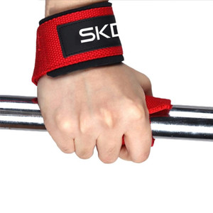 1pc gimnasia de levantamiento de pesas EMPUñADURAS Bandas Sport mancuernas muñeca del entrenamiento de ayuda de la cinta correas Barra Pull Up